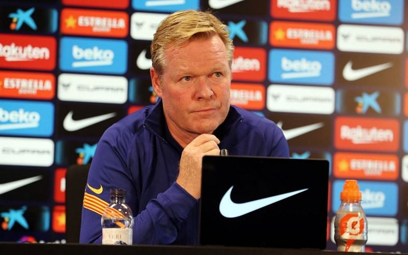 Ronald Koeman is in his first final as a Barcelona manager.