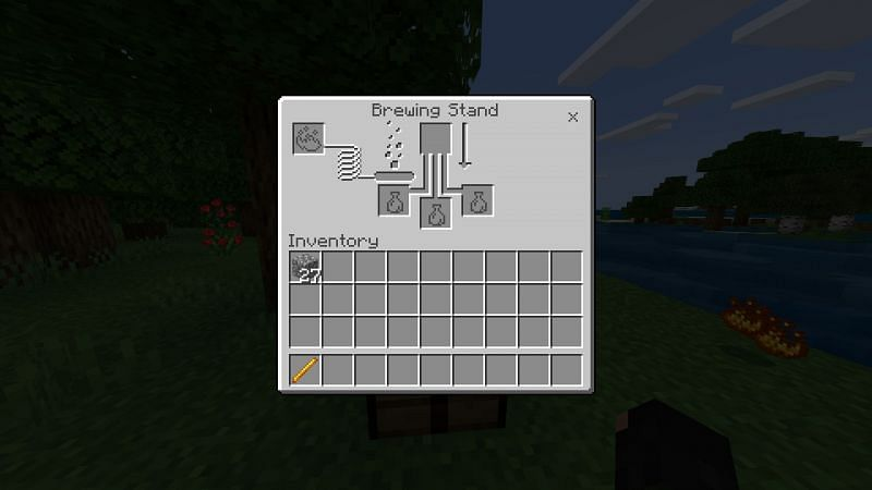 Brewing  Stand UI in Minecraft