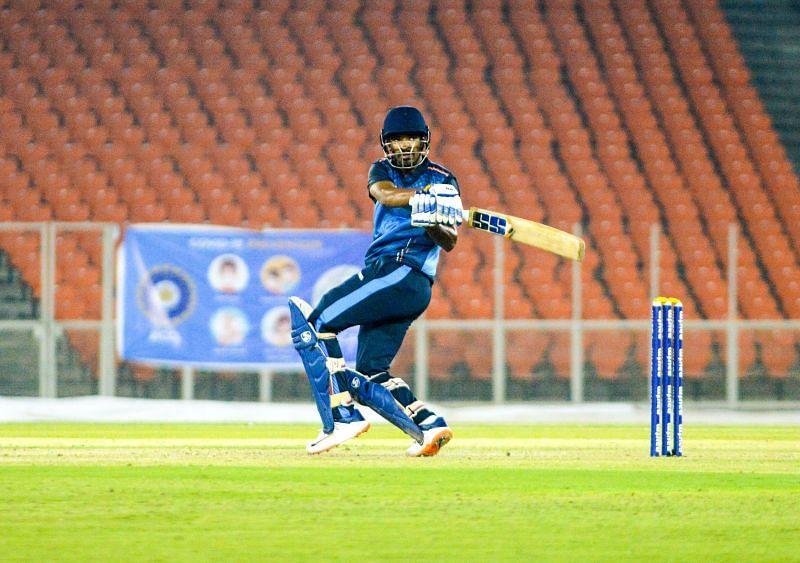 Kartik Kakade scored a match-winning fifty for Baroda in the 2021 Syed Mushtaq Ali Trophy semi-finals