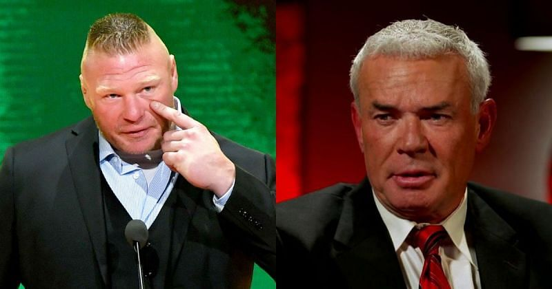 Brock Lesnar and Eric Bischoff.