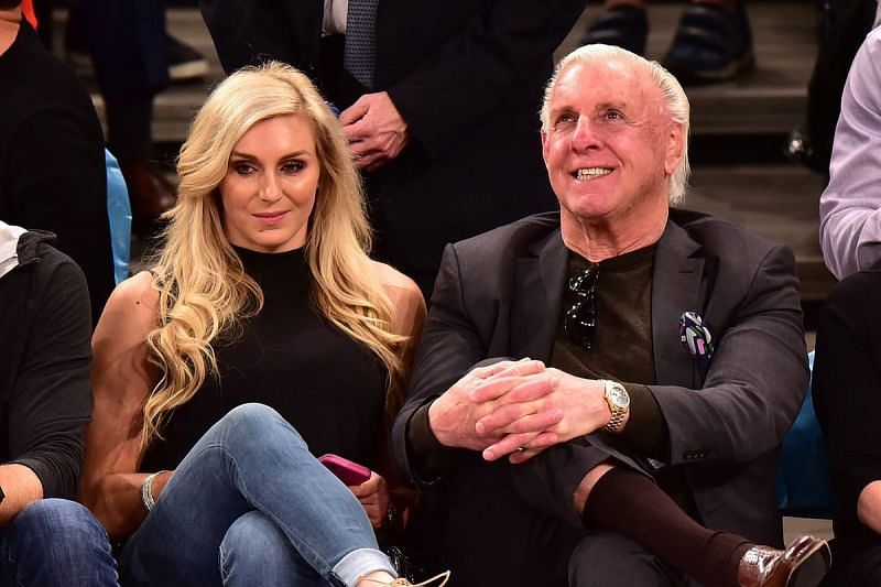 Ric Flair with his daughter Charlotte