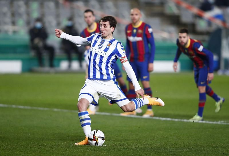 Real Sociedad missed their first three penalties against Barcelona.