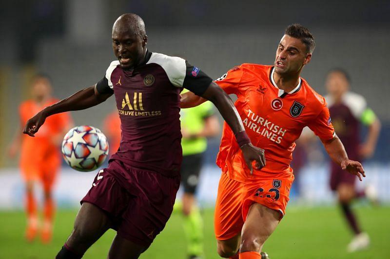 Danilo Pereira in action for Paris Saint-Germain