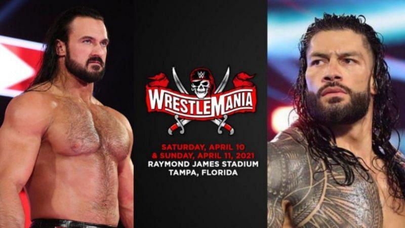 WWE चैंपियन ड्रू मैकइंटायर और यूनिवर्सल चैंपियन रोमन रेंस