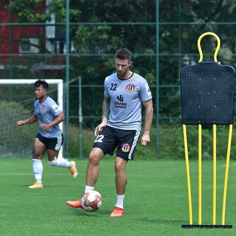 Anthony Pilkington has been in fine form for the Red and Golds (Courtesy - SC East Bengal Twitter)