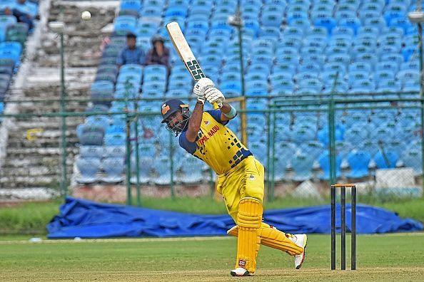 TN skipper Dinesh Karthik in action during last year