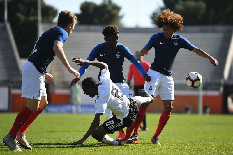 Kone in action for France U-18s