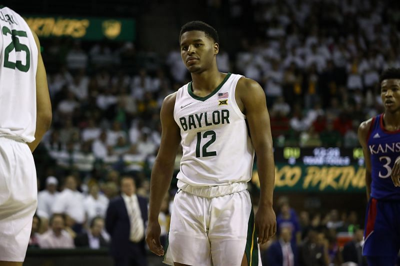 Jared Butler #12 of the Baylor Bears