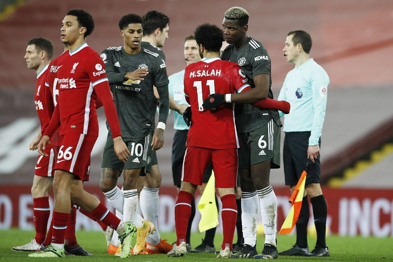 Liverpool and Manchester United played out a 0-0 draw at Anfield on Sunday