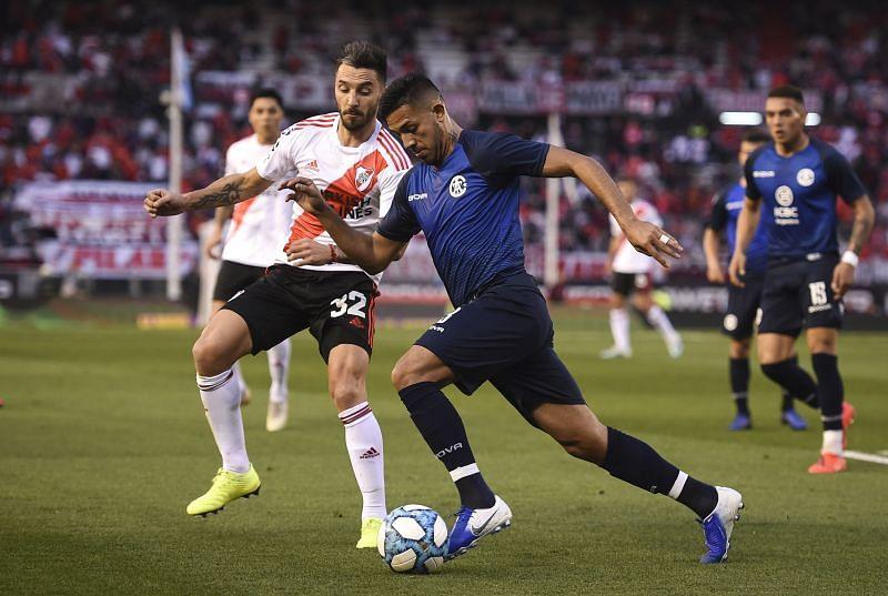 Facundo Medina in action for Talleres