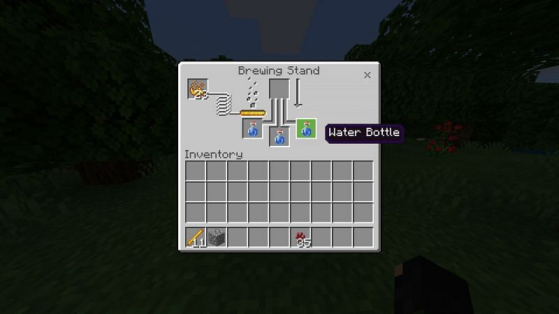 Filling water bottile in Brewing  Stand UI in Minecraft