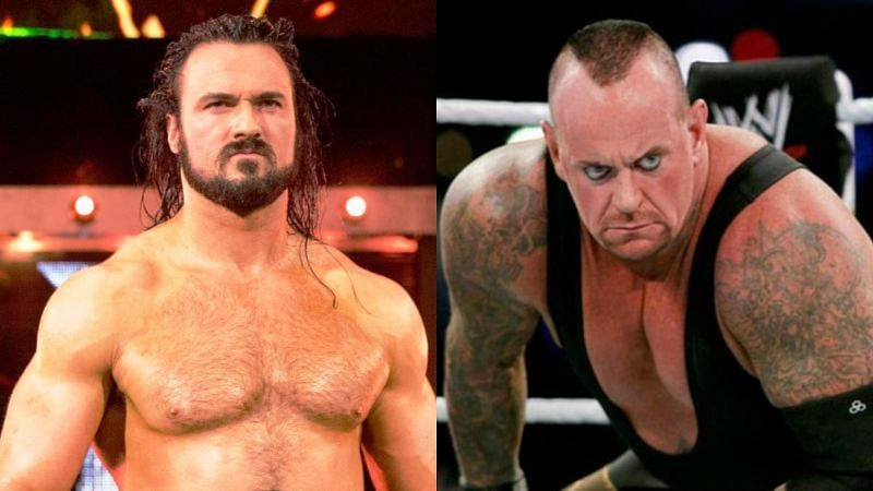 Drew McIntyre (left); The Undertaker (right)
