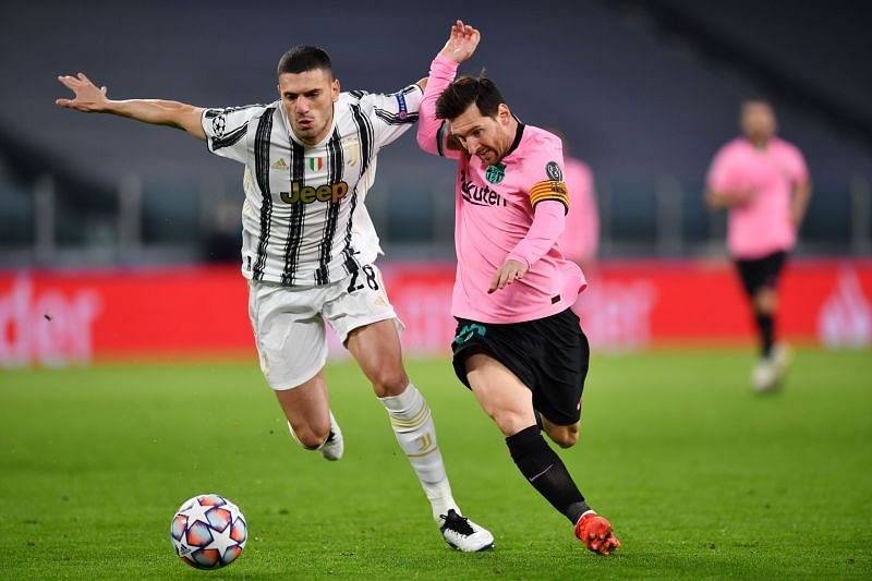 Merih Demiral and Lionel Messi