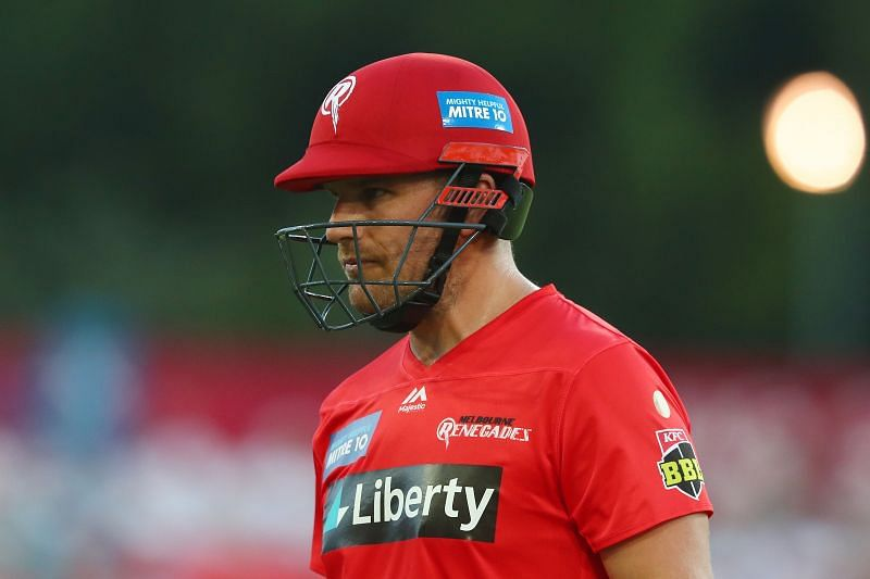 Aaron Finch was dismissed on 18 in the first game of 2021