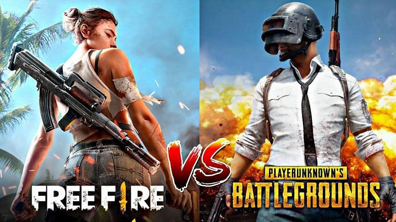 PUBG Mobile vs Free Fire (Image Credits: AK Gaming