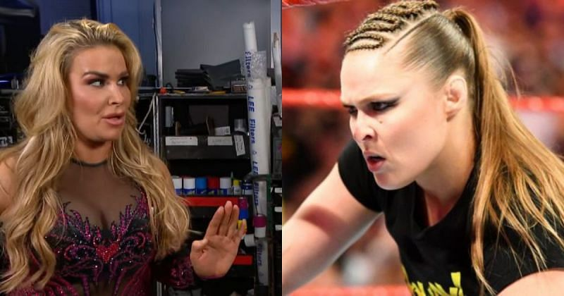 Natalya and Ronda Rousey.