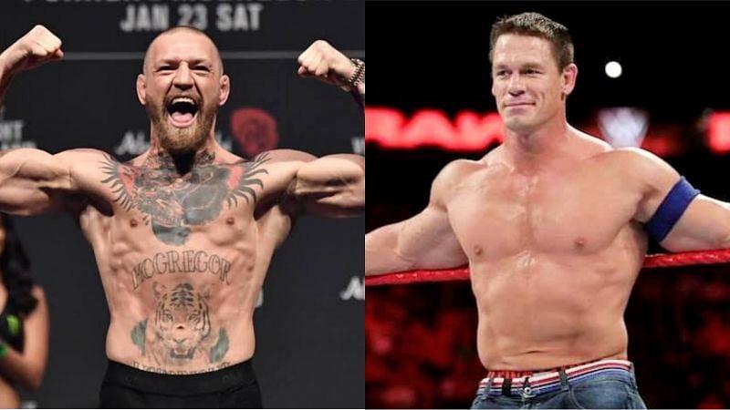 Conor McGregor (left) and John Cena (right)