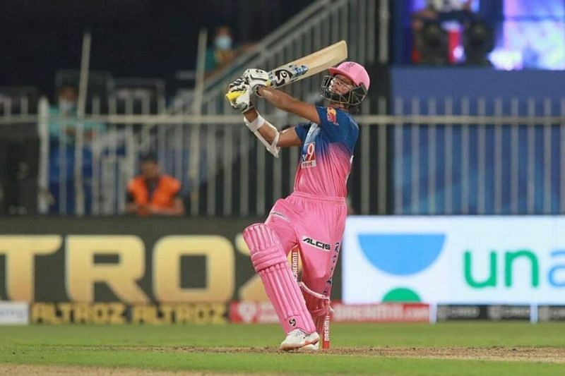Yashasvi Jaiswal in action for the Rajasthan Royals during IPL 2020.