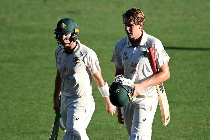 Tim Paine and Cameron Green