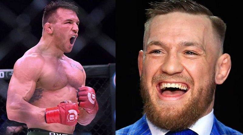 Michael Chandler (left); Conor McGregor (right)