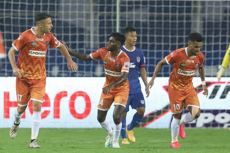 Igor Angulo has scored 9 goals in 10 matches for FC Goa and is the highest goal-scorer in the league. (Image: ISL)