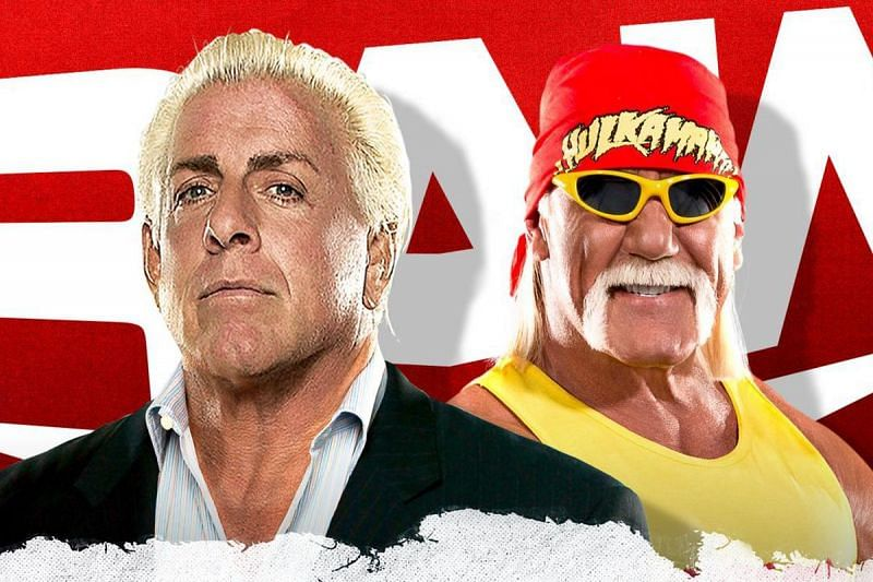 Ric Flair and Hulk Hogan on WWE RAW
