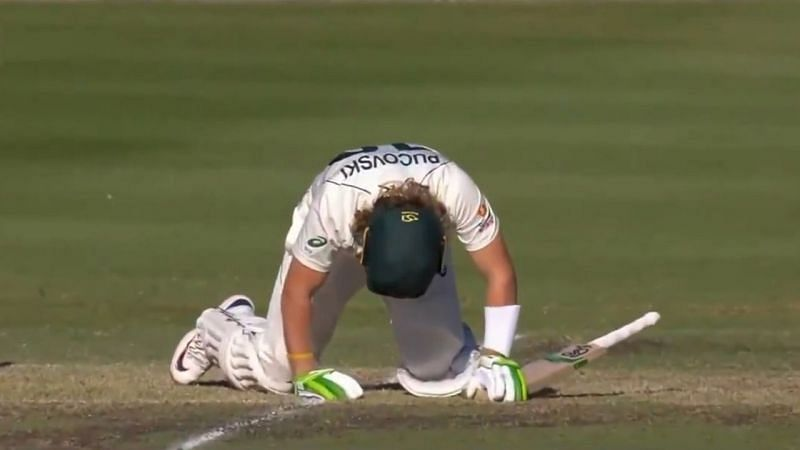 Will Pucovski suffered from a concussion when he was hit on the head by Kartik Tyagi