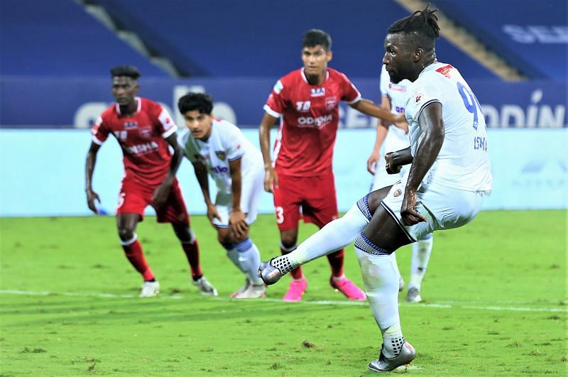 Isma scored a penalty and a goal from open play to give Chennaiyin FC the victory against Odisha FC (Image Courtesy: ISL Media)