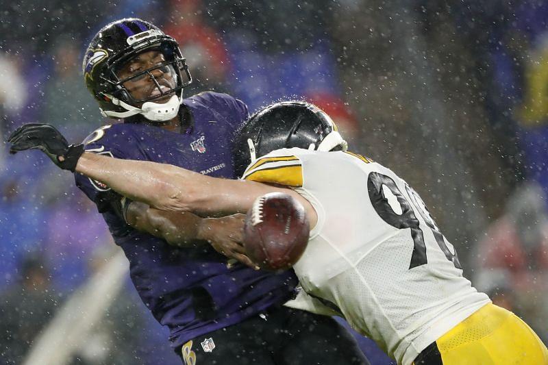 Pittsburgh Steelers T.J. Watt sacks Ravens quarterback Robert Griffin III