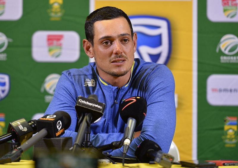 Quinton de Kock during a press Conference
