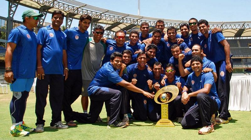 A Baroda side featuring the Pandya brothers won the title in the 2013-14 season