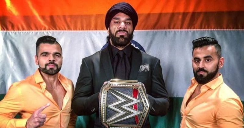 Jinder Mahal and The Singh Brothers.