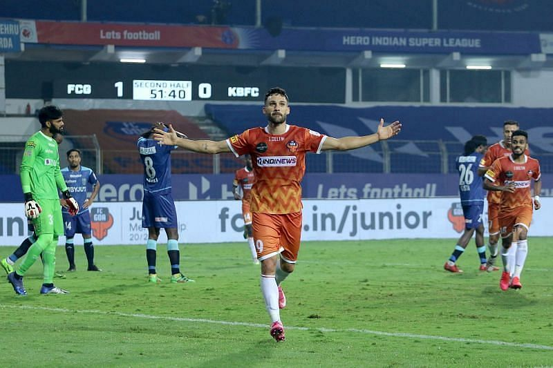 Jorge Ortiz Mendoza has been a livewire for FC Goa in the midfield and the wings. (Image: ISL)