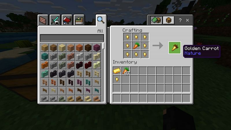 Crafting gold carrot