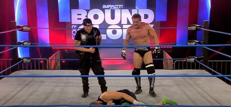 Sami Callihan and Ken Shamrock in IMPACT Wrestling