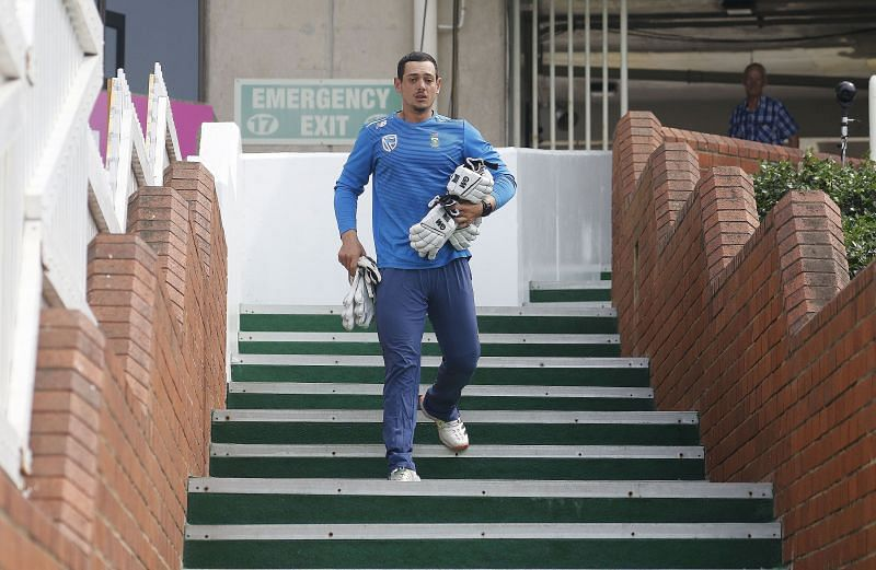 Quinton de Kock going for a training session