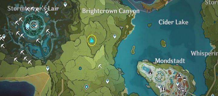 Brightcrown Canyon in Genshin Impact (Image via miHoYo)