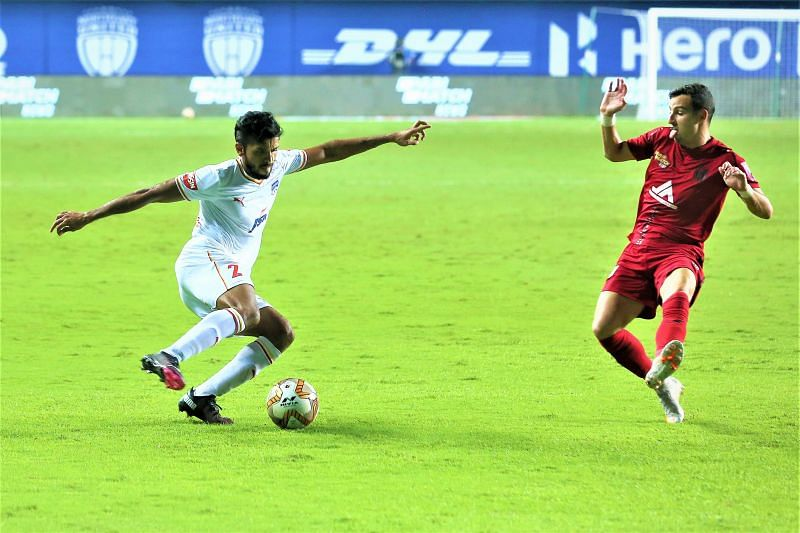 Rahul Bheke scored for Bengaluru FC in their match against NorthEast United FC (Image Courtesy: ISL Media)