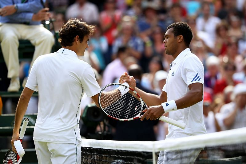 Roger Federer after losing to Jo-Wilfried Tsonga at the Wimbledon 2011