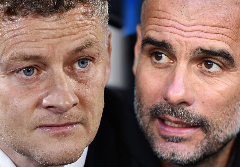Ole Gunnar Solakjaer and Pep Guardiola