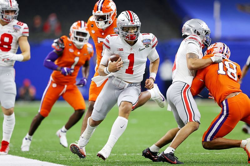Ohio State quarterback Justin Fields showed heart in the College Football Playoff Semifinals