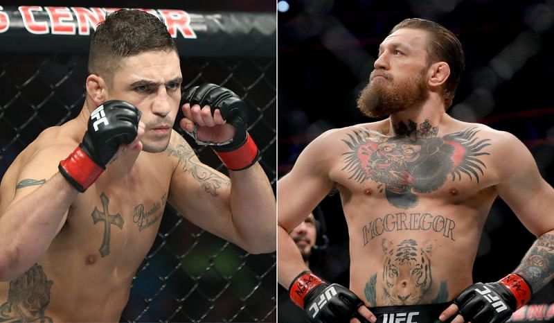 Diego Sanchez (L) and Conor McGregor (R)