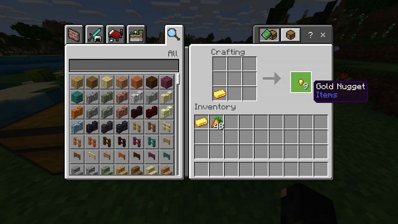 Crafting gold nuggets