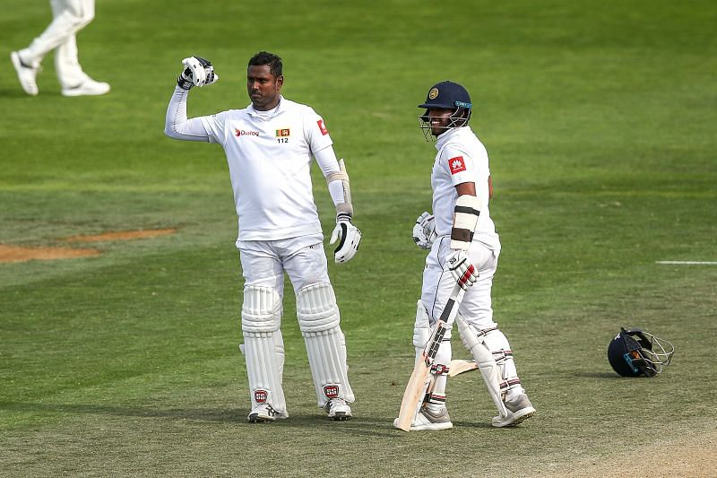 Angelo Mathews reached the 6000-run mark in Test cricket
