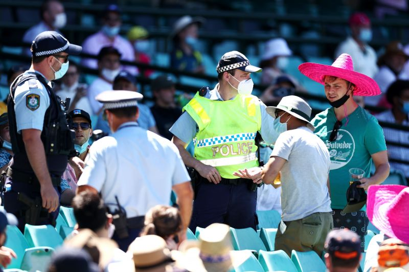 6 fans were removed after play halted following Siraj