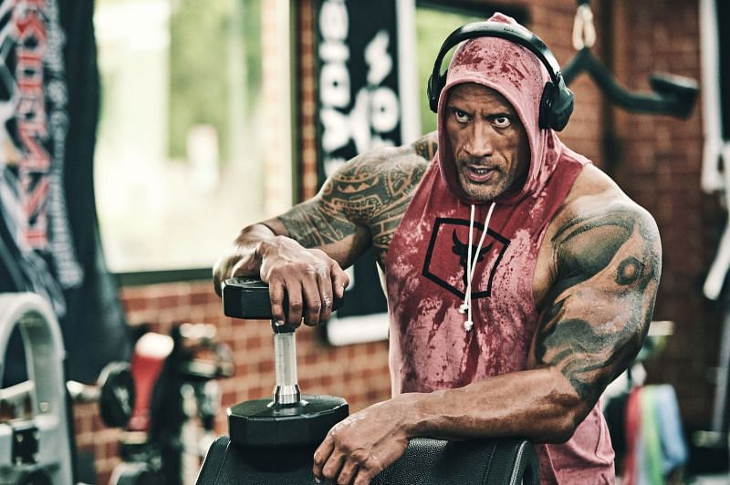 The Rock is known for his early workouts in the