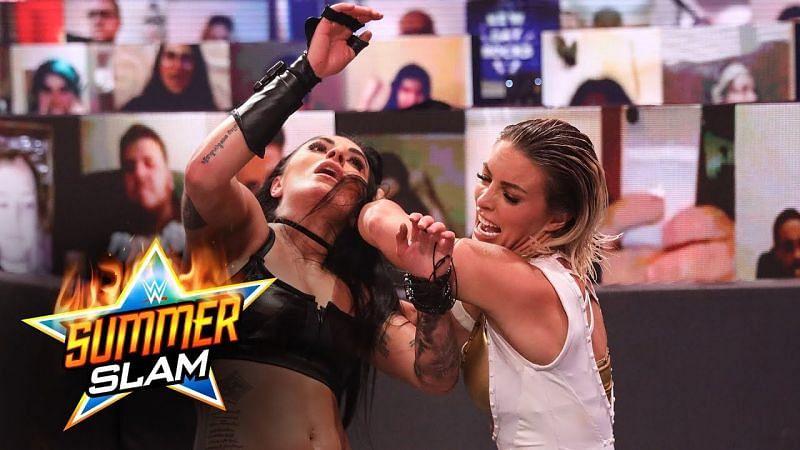 Sonya Deville vs. Mandy Rose at SummerSlam 2020.
