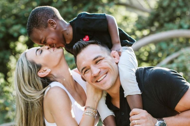 Michael Chandler and Brie Willet with their son. (Image credit: Michael Chandler