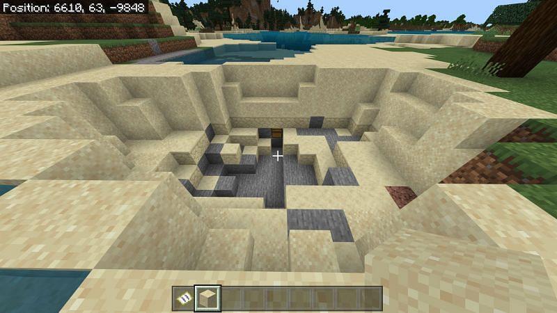 Mining on the X in Minecraft