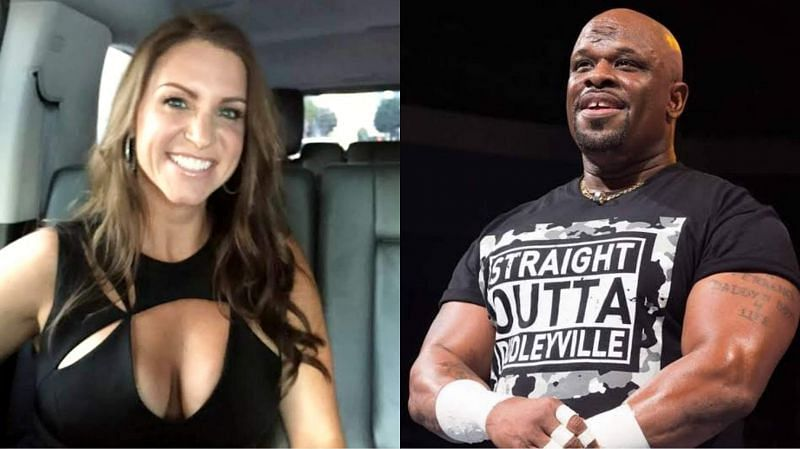 Stephanie McMahon (left) and D-Von Dudley (right)